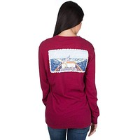 First Mate Long Sleeve Tee in Cranberry Red by Lauren James