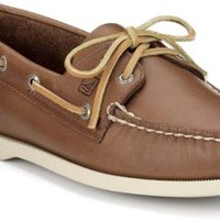 Sperry Top-Sider Authentic Original 2-Eye Boat Shoe TanLeather, Size 5M  Women's Shoes