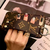 """Louis Vuitton"" LV Classic Fashionable Retro iPhone Phone Cover Case For iphone X 6s 6plus 6s-plus 7 8plus"
