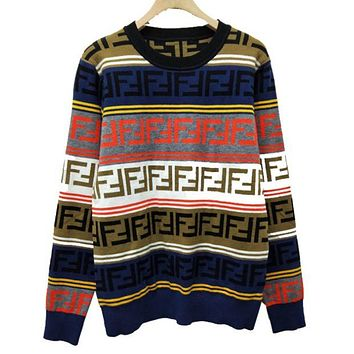 Fendi High Quality New Fashion More Colorful Letter Women And Men Long Sleeve Top Sweater