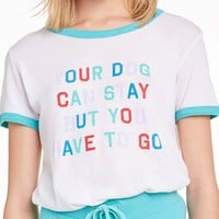 Wildfox Your Dog Jonny Ringer Tee