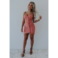 On A Mission Dress: Dusty Rose