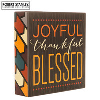 Give Thanks Wood Wall Decor with Floral Edge | Hobby Lobby | 105605050