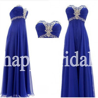 Long Royal Blue Beaded Prom Dresses Lovely Sweetheart Bridesmaid Dresses Homecoming Dresses Party Dresses 2014 Wedding Events