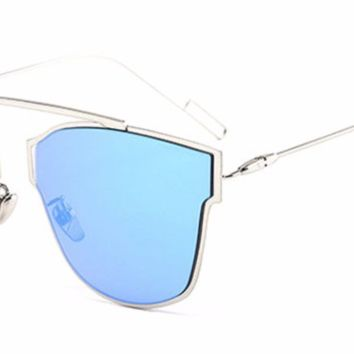 'Timeless' Single Bridge Shades - Silver/Blue