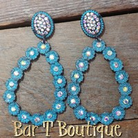 Loretta Teardrop Earrings ~ Distressed Turquoise