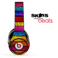 Neon Planked Wood Skin for the Beats by Dre Studio, Solo, MIXR, Pro or Wireless Version Headphones