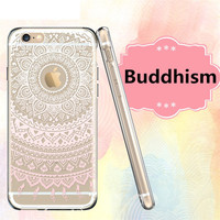 phone case Mandala Totem Henna Pattern soft silicone TPU case cover  for Apple iphone 5S SE 6 6S 6plus 6splus 7 7plus