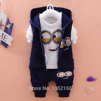 Minion Hooded Outfit Set   Hooded Jacket, Shirt and Pants.