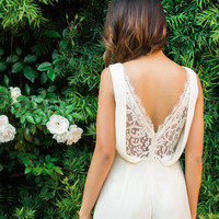 Heather Cream Lace Romper by Ark & Co