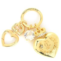 Gold Large Heart Keyfob by Juicy Couture, No