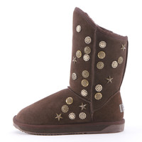Coin and Star Boots for Women