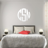 The Solid White Circle Monogram V1 EASY-TO-APPLY Wall Decal