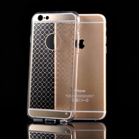Iphone 6S Hard Case Luxury Retro Clear Silicone Case For iPhone 6 4.7 Hybrid Armor Logo Circle Transparent Back Cover