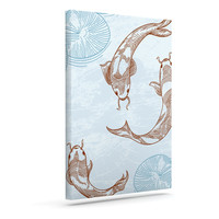 "Sam Posnick ""Koi"" Outdoor Canvas Wall Art"