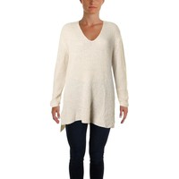 Two by Vince Camuto Womens Mohair Blend Metallic Tunic Sweater