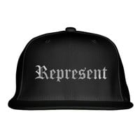 Represent Embroidered Snapback Hat