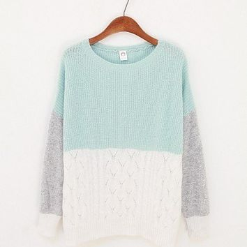 Three Colors Sweater - Mint from Tulita