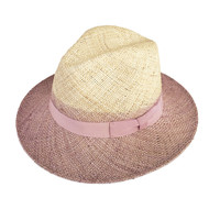 Classic Two Tone Straw Fedora Hat