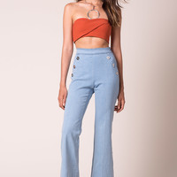 Mariah Button Flare Pants