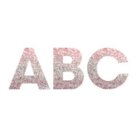 Lisa Argyropoulos Girly Pink Snowfall Decorative Letters