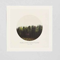 Tina Crespo Dark Forest Art Print- Dark Green One