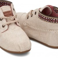 TOMS Shoes Burlap Trim Tribal Boots Women's Lace-up Shoes,