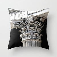 Classic architectural column Throw Pillow by Wood-n-Images | Society6