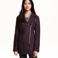 Wool-blend Biker Coat - from H&M
