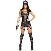 Roma Costume 4587 3Pc Seductive Swat Agent