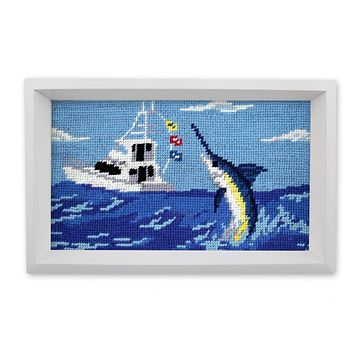 Offshore Fishing Needlepoint Valet Tray by Smathers & Branson