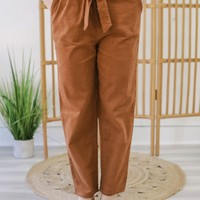 Can't Pass You By Pants - Cognac