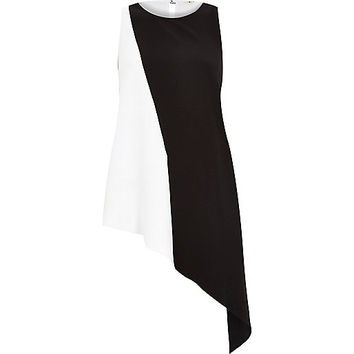 River Island Womens White sleeveless asymmetric buckle tank