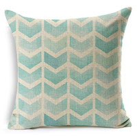 MYJ 2015 Nordic Style Fashion Watercolour Chevron Printed Pillow Bed  Home Decorative Throw Pillow Fundas print your name