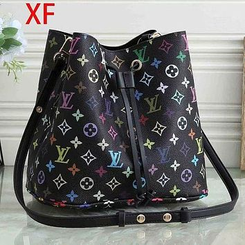 Louis Vuitton LV Fashion Trending Women Leather Zipper Tote Handbag Wallet Purse Bag