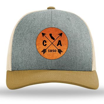 California State Arrows - Leather Patch Trucker Hat