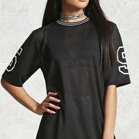Number 59 Graphic Mesh Top