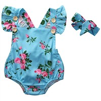 Floral born Baby Girl Romper Outfit Clothes