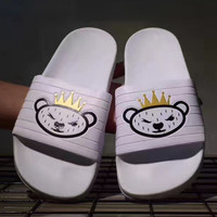 shosouvenir ❤ Adidas Teddy bear casual slippers
