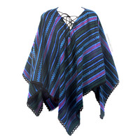 Cozy Striped Poncho on Sale for $48.95 at HippieShop.com