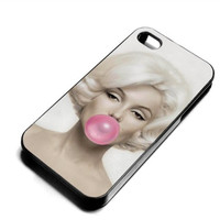 Marilyn Monroe Pink Bubble iPhone Case And Samsung Galaxy Case