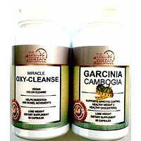 Garcinia Cambogia Extract  60 Capsules and Miracle Oxy-Cleanse 80 Vegan Capsules