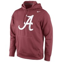 Alabama Crimson Tide Nike Warp Logo Therma-FIT Hoodie - Crimson