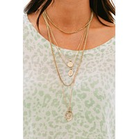 Don't Doubt Me Layered Necklace (Antique Gold)