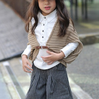 Knitted Cape Vest