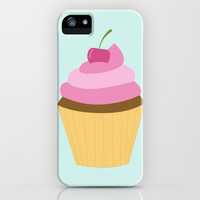 Cherry Cupcake iPhone & iPod Case by heartlocked