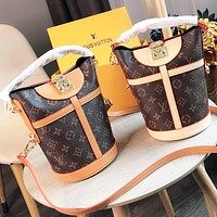 LV Louis Vuitton Hot Sale Women Leather Personality Handbag Satchel Crossbody Shoulder Bag
