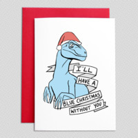 Jurassic World Blue Christmas cards