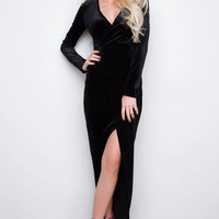 Camden Velvet Dress - Black