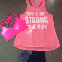 Sore Today Tank Pink